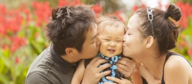 O familie japoneză fericită