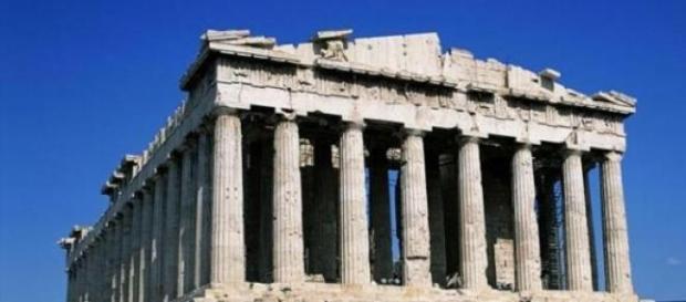 O Pártenon e seus mármores na Acrópoli de Atenas