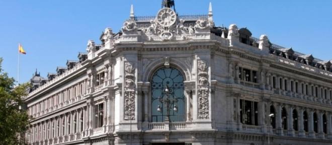 Fachada del Banco de España en la Plaza de Cibeles de Madrid