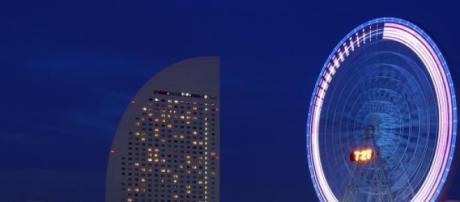 Vista nocturna de la imponente Tokio