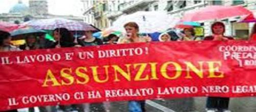 Manifestazione contro il lavoro nero