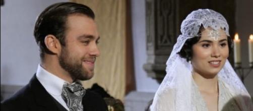 Maria il giorno delle nozze con Fernando