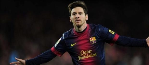 El jugador del F.C. Barcelona, Leo Messi