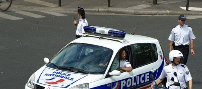 French national police responding to an incident