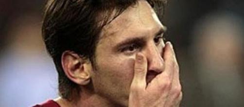 Leo Messi disperato durante gara