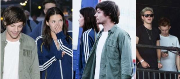 Louis Tomlinson com Tamara Bell e com Niall Horan
