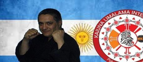 José María Chandia y el escudo de Kahuna Lima Lama