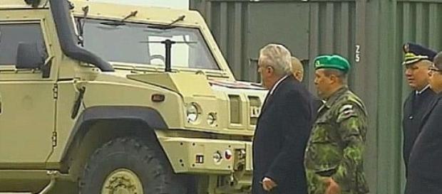 Prezydent Zeman i jego doradcy