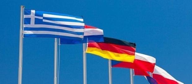 Les drapeaux d'une Europe qui se désolidarise....