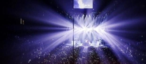 Linkin park en pleno concierto en México