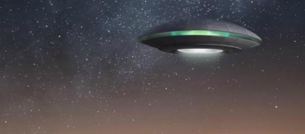 Un'immagine di un oggetto volante non identificato