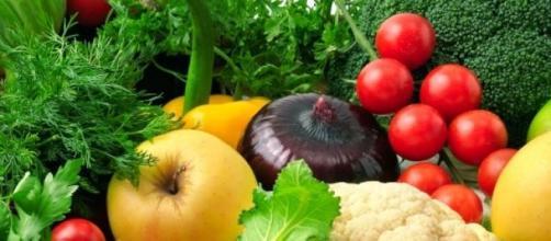 Alcuni tipi di frutta e verdura