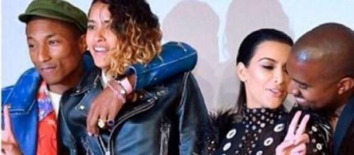 Casal Kardashian-West com os 'heróis' da noite