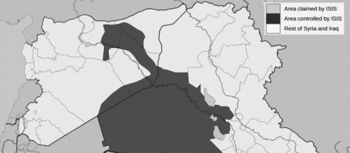 Controllo territoriale dell'ISIS dal gennaio 2014