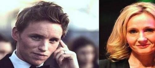 Eddie Redmayne e  J. K. Rowling