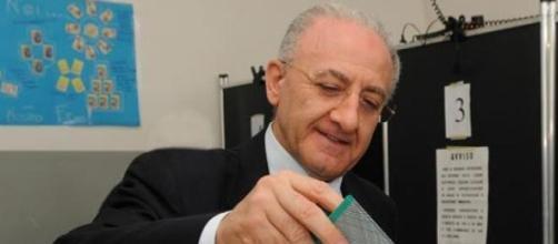 Il presidente della Regione Campania, De Luca