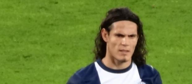 Cavani con el Paris Saint-Germain