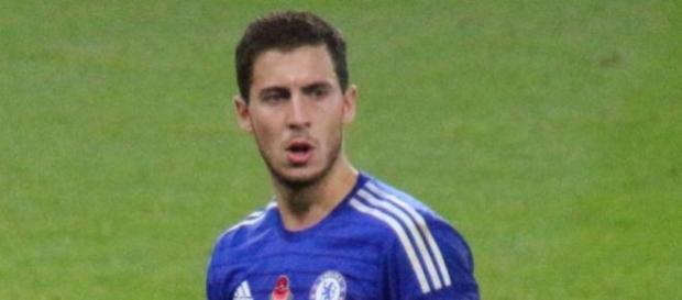 Eden Hazard con el Chelsea