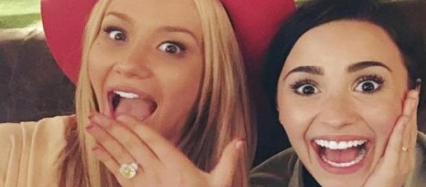 Iggy Azalea et son amie Demi Lovato.