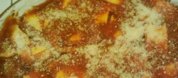 La parmigiana fatta con cotolette di pollo