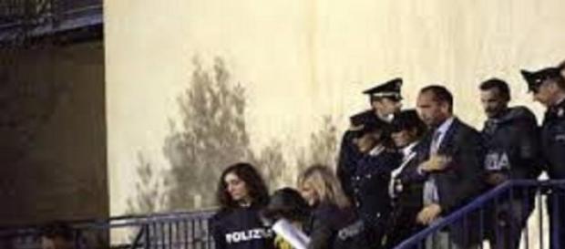 Veronica Panarello durante l'arresto.