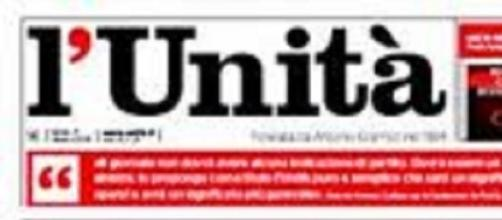 Logo del quotidiano l'Unità.