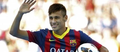 Neymar está muy a gusto en el Barsa