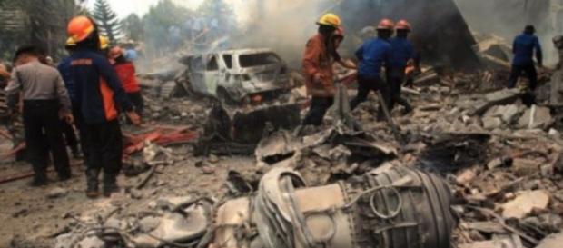 Akcja ratunkowa po katastrofie samolotu C-130