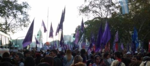 Marcha #NiUnaMenos en Plaza Congreso