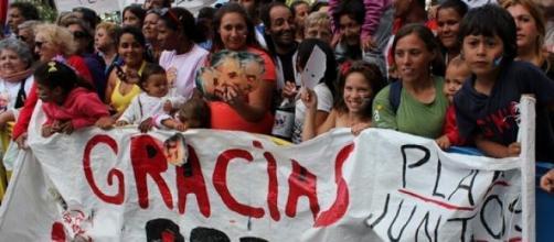 Montevideo despidiéndose de su presidente Mujica
