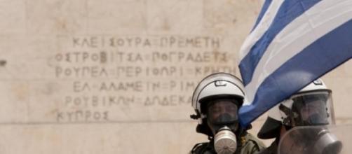 Una manifestazione ad Atene