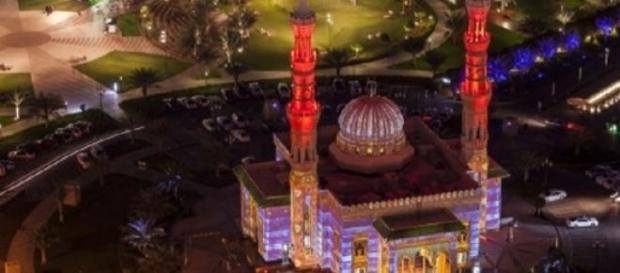 Al-Majaz Moschee, Sharjah Light Festival