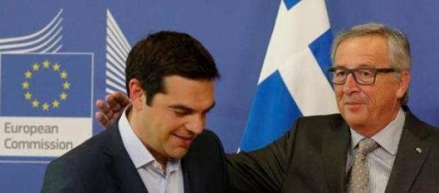 Alexis Tsipras e Jean-Calude Juncker