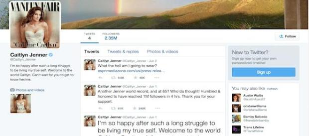 Caitlyn Jenner bate recorde no Twitter