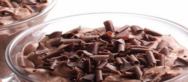 La mousse al cioccolato,ideale per un goloso pasto
