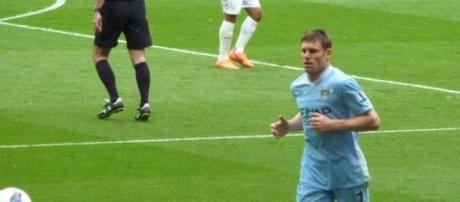 James Milner against Arsenal in EPL.