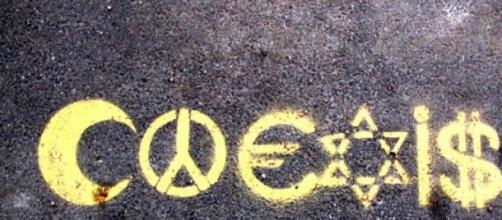 «coexist» Street Art à Brooklyn, New York, USA
