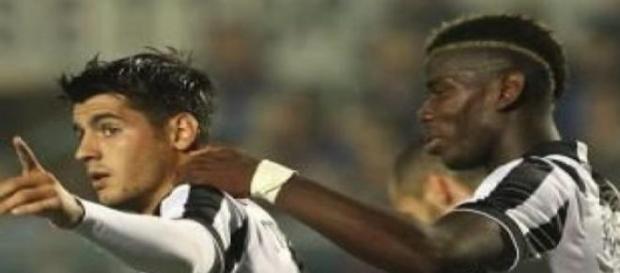 Álvaro Morata y Paul Pogba