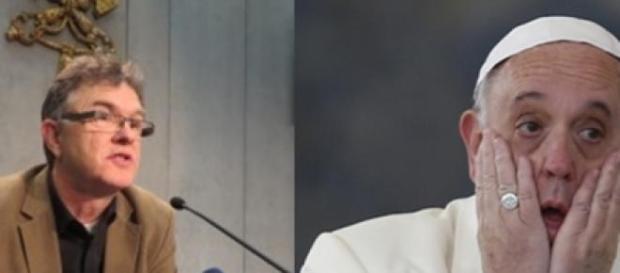 Papa Francisc între cardinalul Pell și Saunders