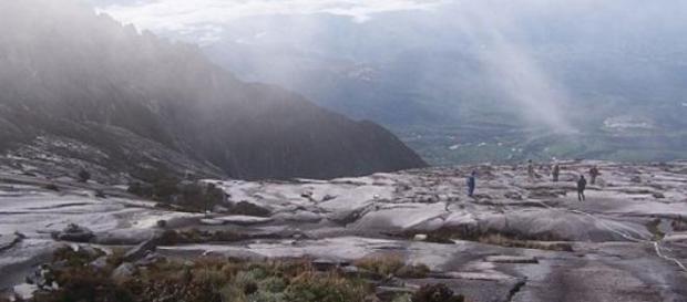 Cima del Kinabalu antes del seismo