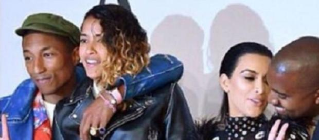 Kim Kardashian,Kanye & Pharrell bei den CFD Awards