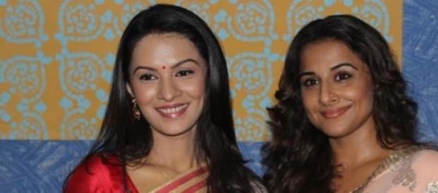 Vidya Balan promotes her movie through TV shows.