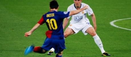 Messi na final da Liga dos Campeões 2008-2009