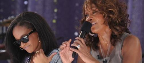 Bobbi Kristina Brown e Whitney Houston nos GMA.
