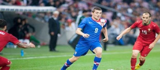 Kovacic playing for Croatia national team