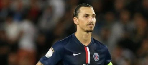 Ibrahimovic as PSG captain in France Ligue 1
