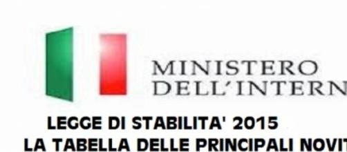 Legge di Stabilità 2015: la tabella delle novità