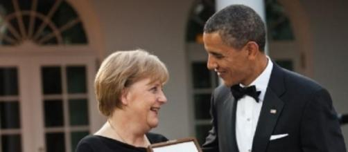 Obama et Merkel, figures de ce sommet du G7.