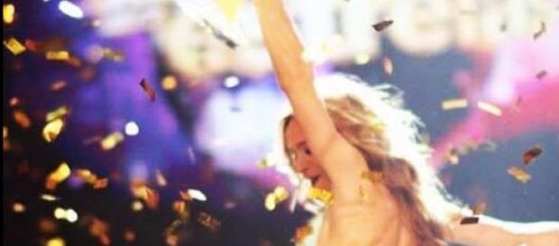 A celebração da vitória de Sara Prata