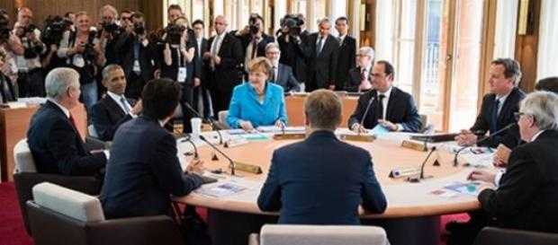 Líderes reunidos. Fuente: Bundesregierung/Kugler